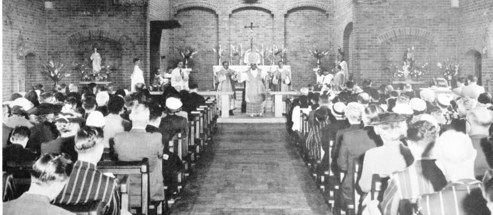 1956,Damiano-opens-chapel