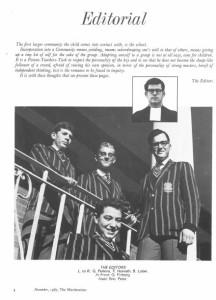 November,1967,The Maristonian,Editorial